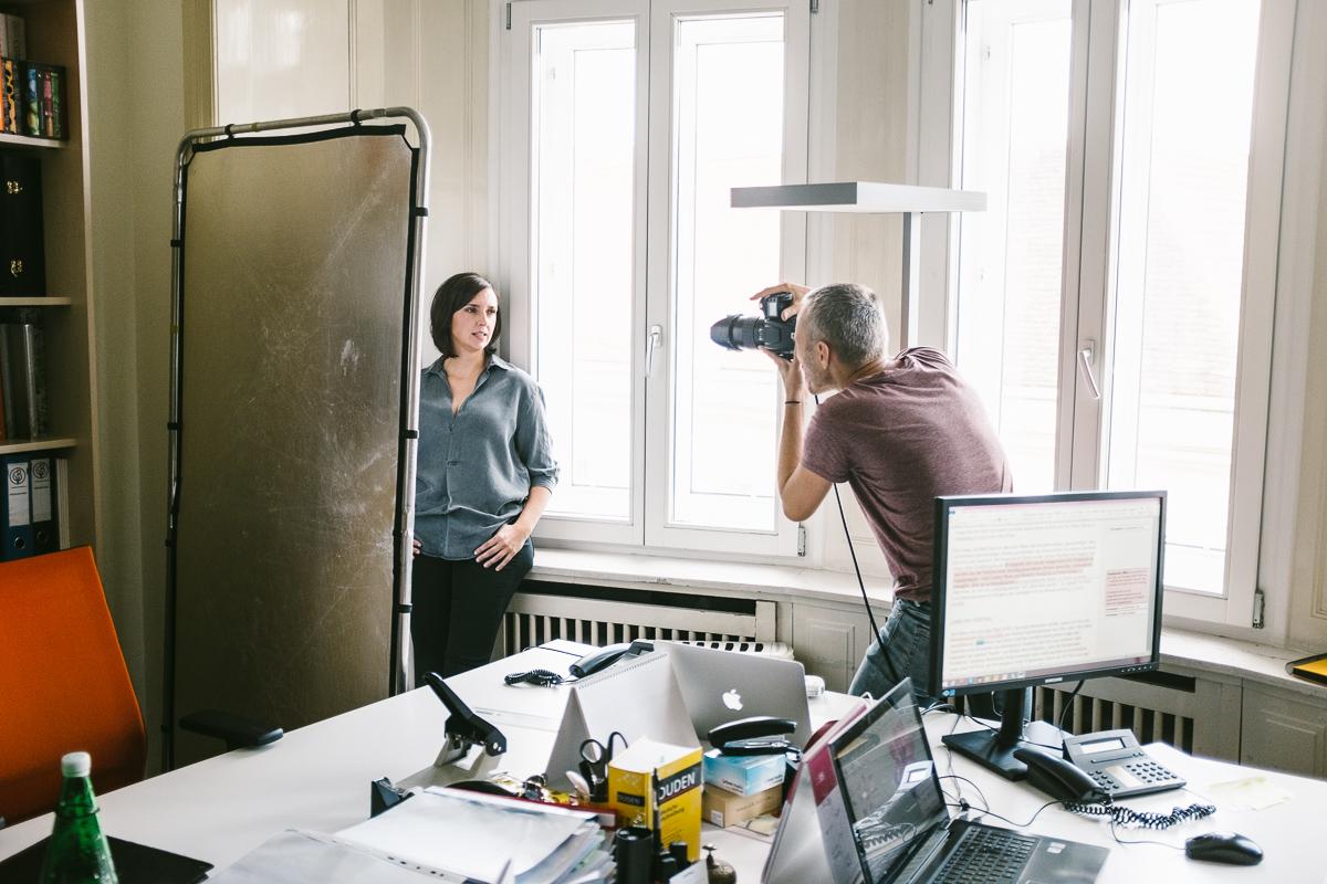 taking portraits of Susanne Schnabl