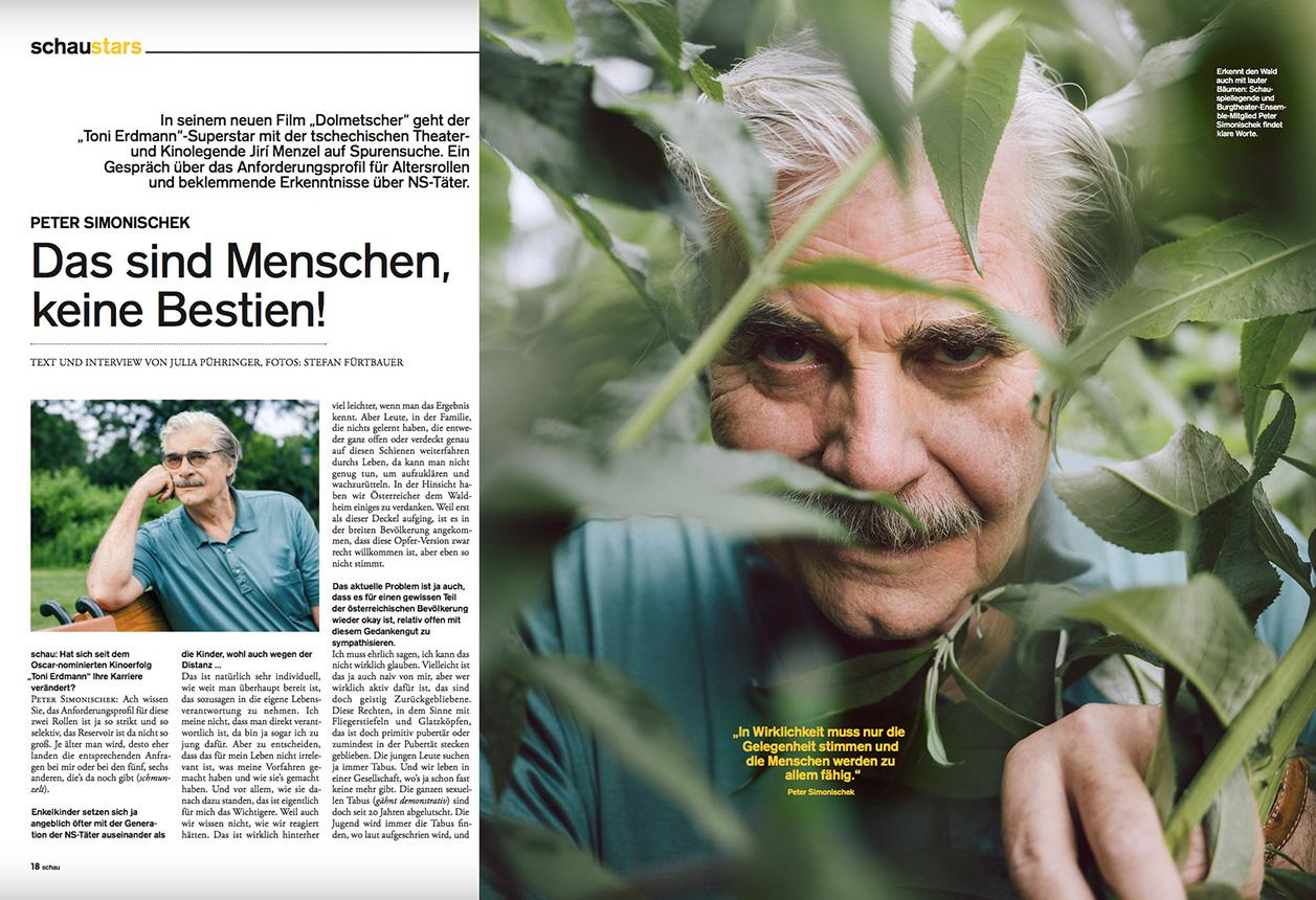 Peter Simonischek for schau Magazin