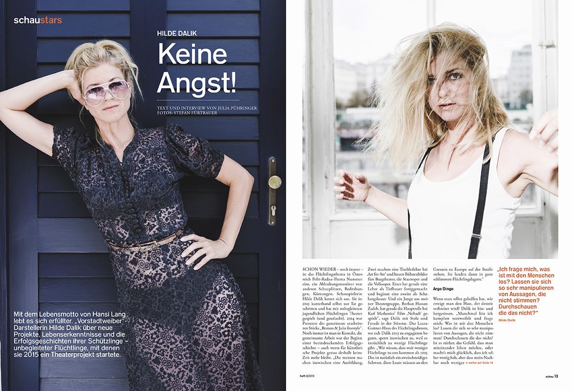 Hilde Dalik for schau Magazin