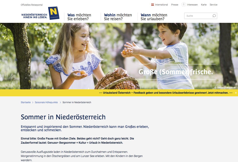 Ads vor Niederösterreich Werbung