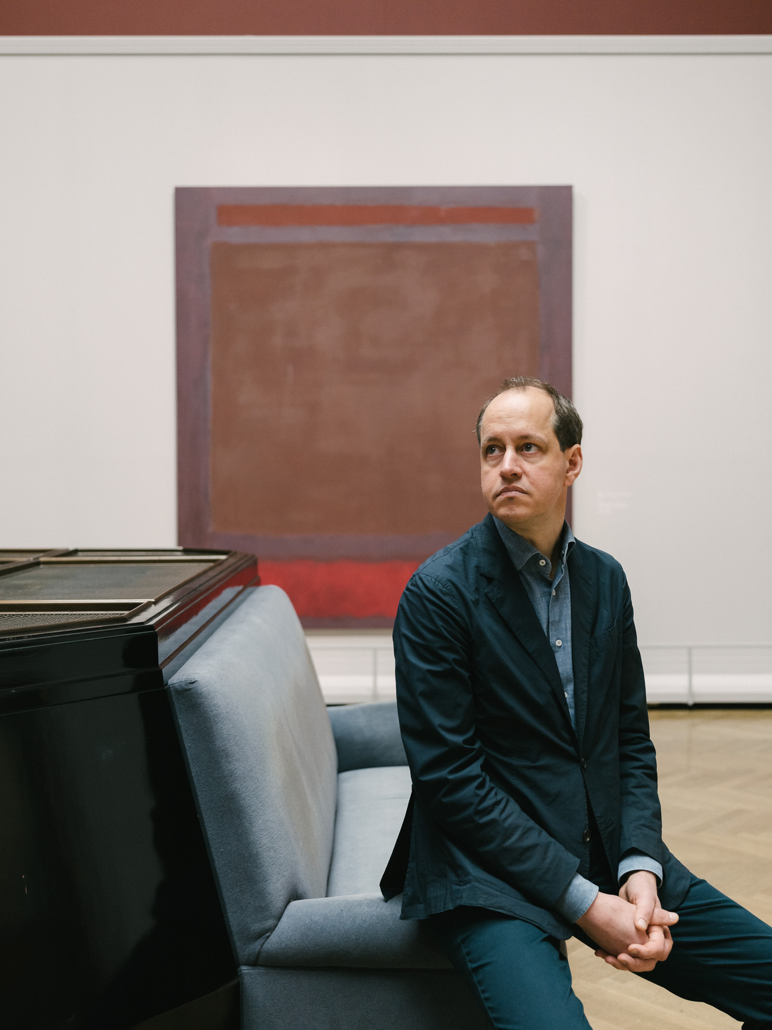 VIENNA, AUSTRIA - March 10, 2019: Mark Rothko exhibition curated by Jasper Sharp at Kunsthistorisches Museum (Art History Museum) in Vienna, Austria.