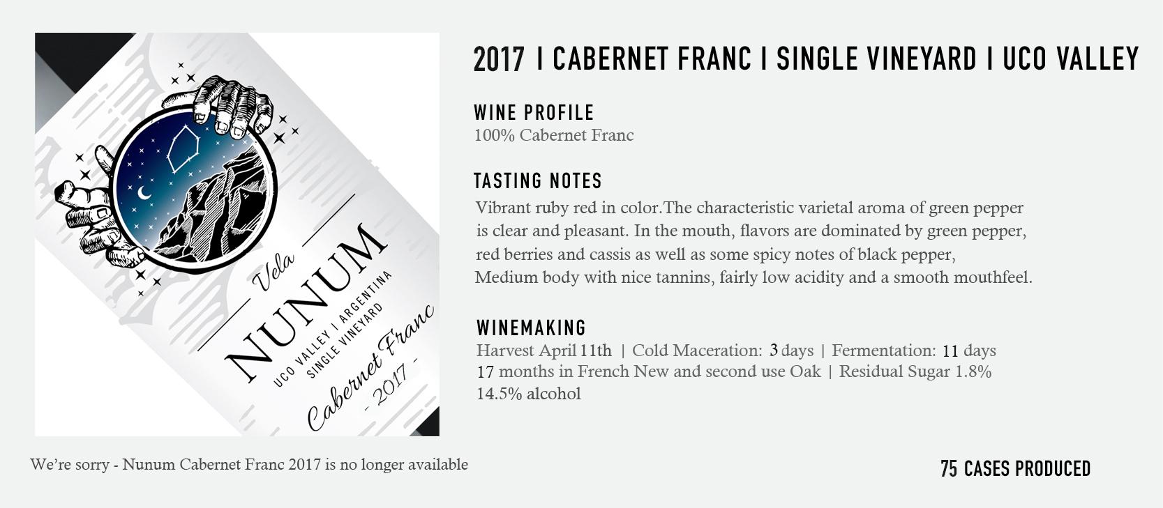 2017 Nunum Cabernet Franc