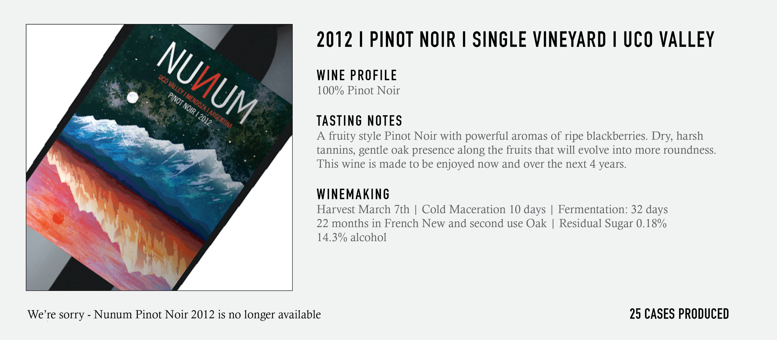 2012 Nunum Pinot Noir
