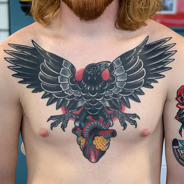 Nates chest all settled in, healed about a year and a half.