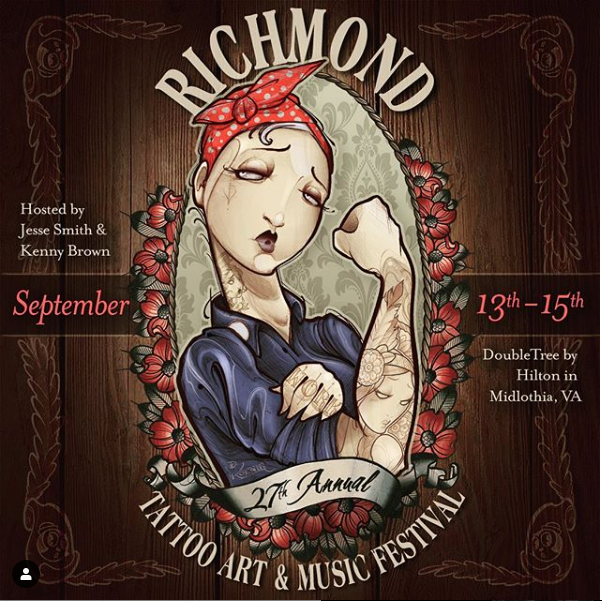 Visit our booth! - 27th Annual Richmond Tattoo Art & Music FestivalE-mail Nick or Dean to schedule an appointment in advance!