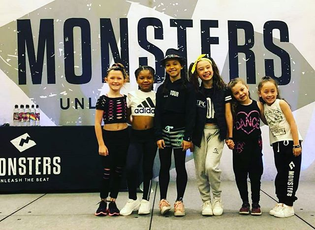 How cute are our little hip hoppers?! Ready to work this morning in their first day of classes at Monsters! #teamISOD #monstersofhiphop