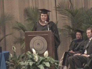Speaking at MBA commencement