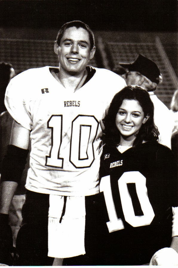 Jacob and Allison after a Boyle County game, their Junior year of high school.