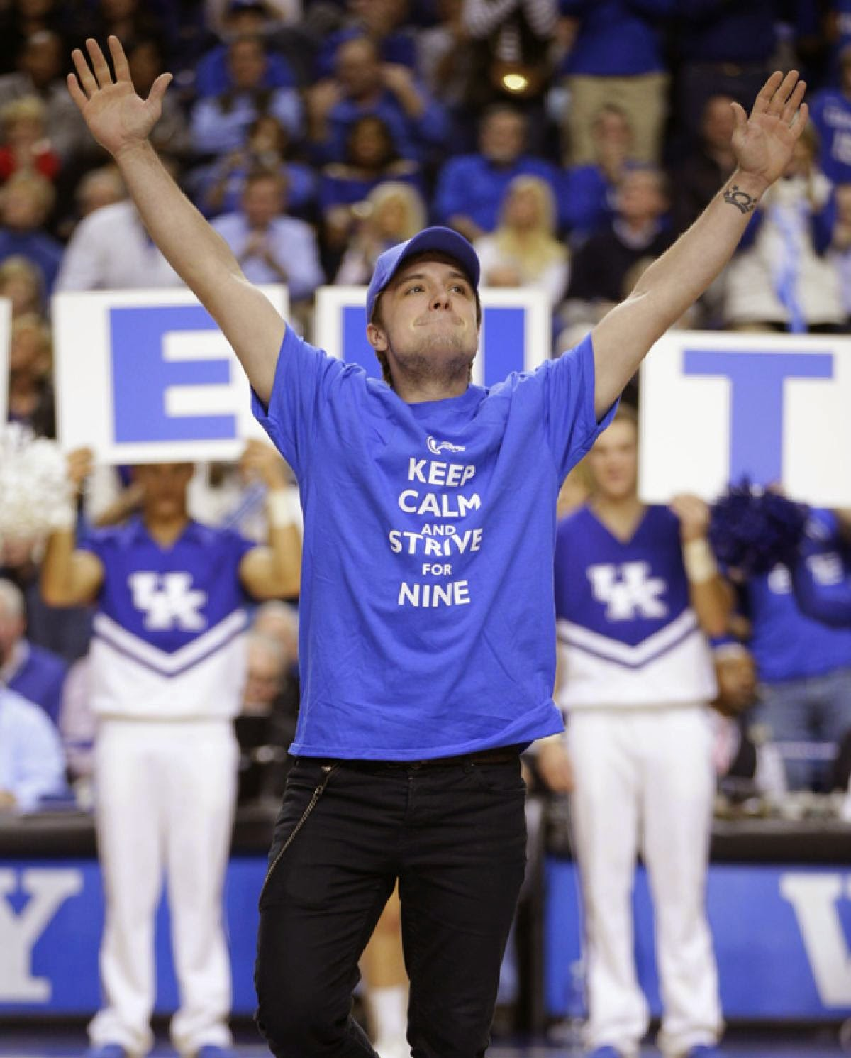 Josh Hutcherson at a Kentucky Wildcats Basketball Game