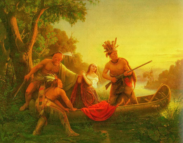 The Abduction of Daniel Boone's Daughter by the Indians by Charles Wimar