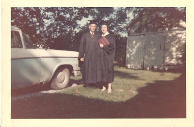 My grandparents receiving degrees from EKU, 1961.