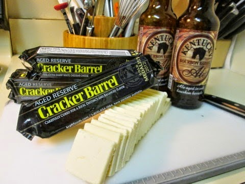 {Gathering the beer and cheese}
