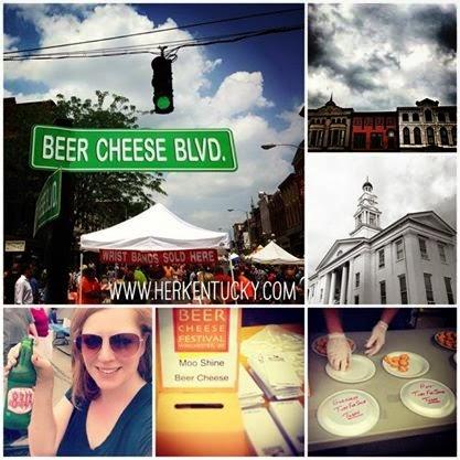 HerKentucky writer  Glenda  at the 2013 Beer Cheese Festival. (Photo © 2013,Glenda McCoy)