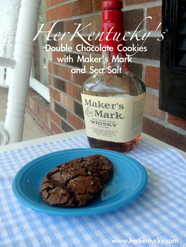 HerKentucky Double Chocolate Cookies with Maker's Mark and Sea Salt