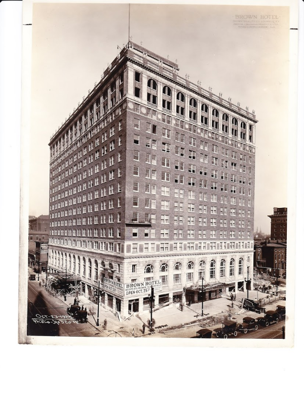 The Brown Hotel's opening day, October 1923. Image courtesy Brown Hotel.