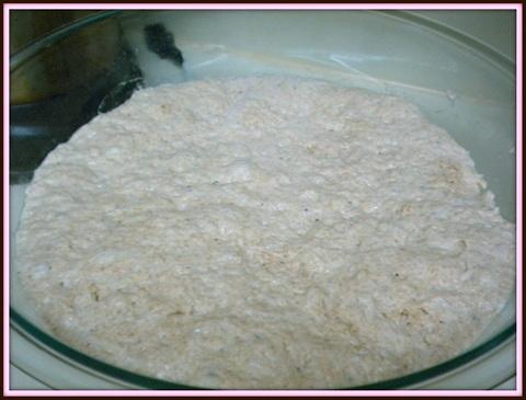 Dough after it has risen