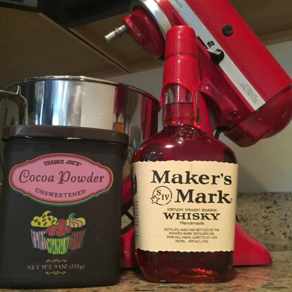 Kitchenaid Mixer and Maker's Mark Whiskey