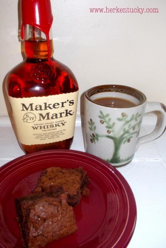Cocoa Powder Brownies with Maker's Mark and Himalayan Pink Sea Salt   HerKentucky.com