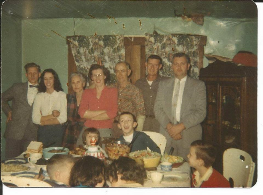 That's my grandpa on the far left with the sweet bowtie.