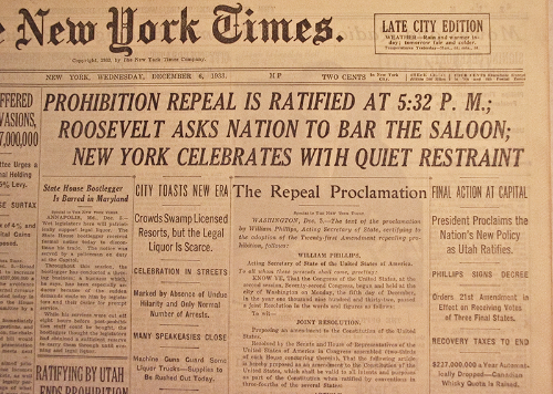 New York Times Repeal Day Article
