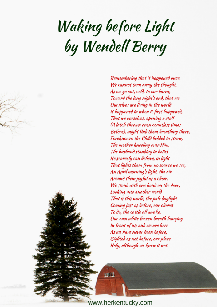 Waking Before Light | Wendell Berry | HerKentucky.com