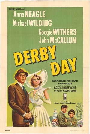 Derby Day, a 1952 film set at the Epsom Derby. It looks like the heroine needs a mint julep, no?
