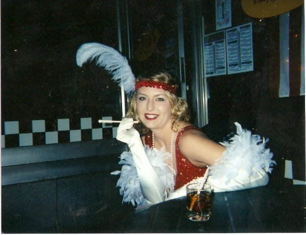 One of the many years I dressed as a flapper for Halloween.