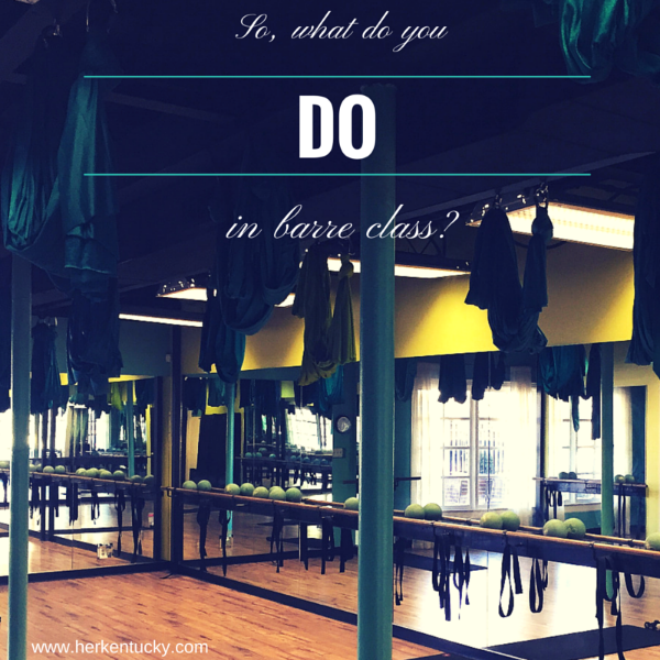 What do you do in a barre class? HerKentucky.com and b.you fitness take you to a barre class and show you the basics!