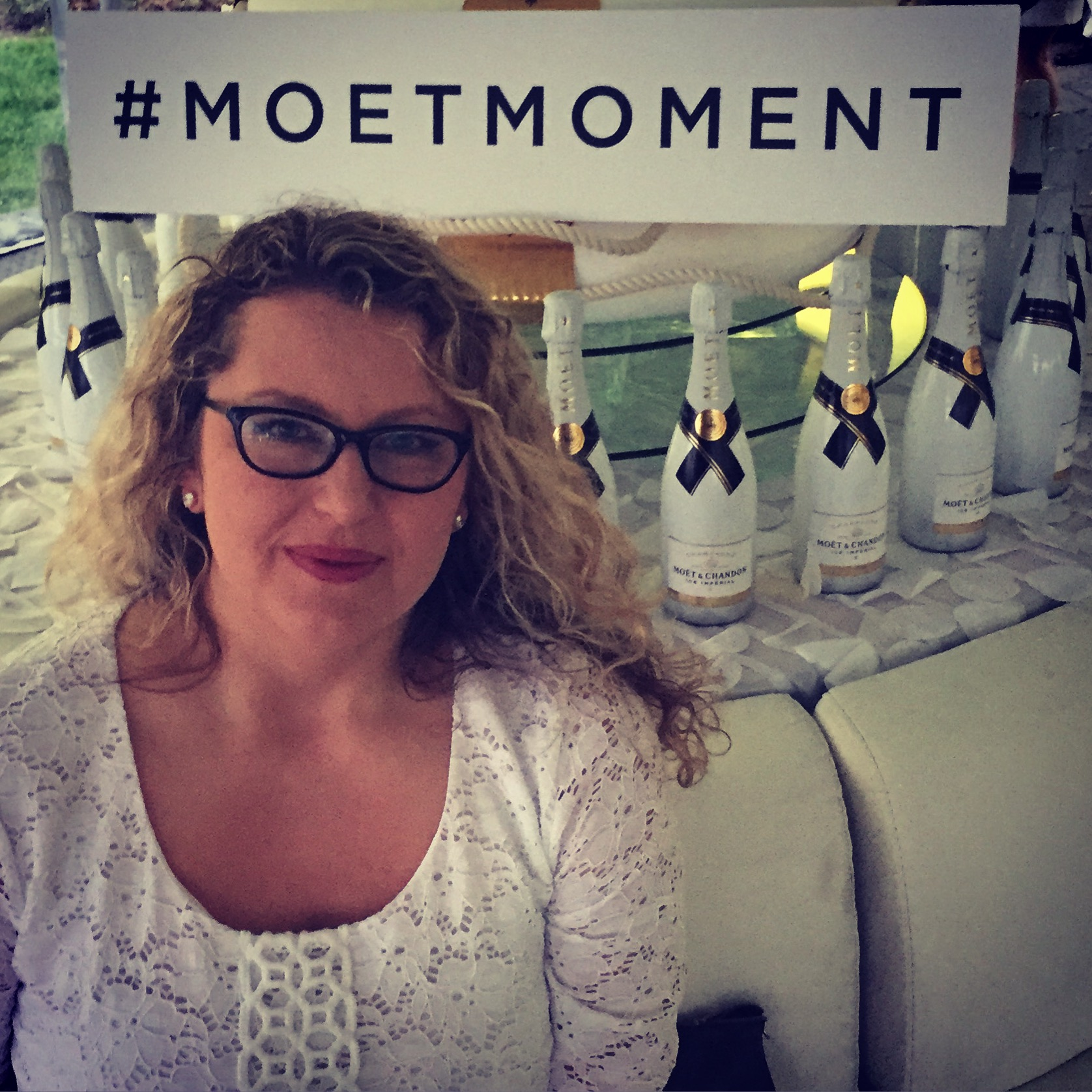 Me, last night, at Moet & Chandon's Derby in a Bottle party