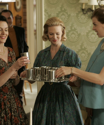 Mad Men's Betty Draper serves mint juleps.