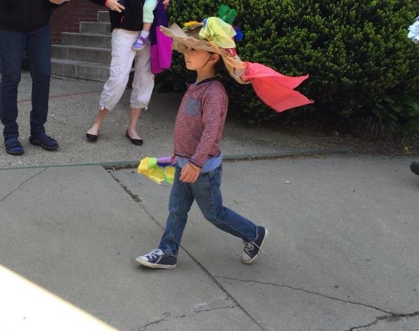 Foster K. at a school parade
