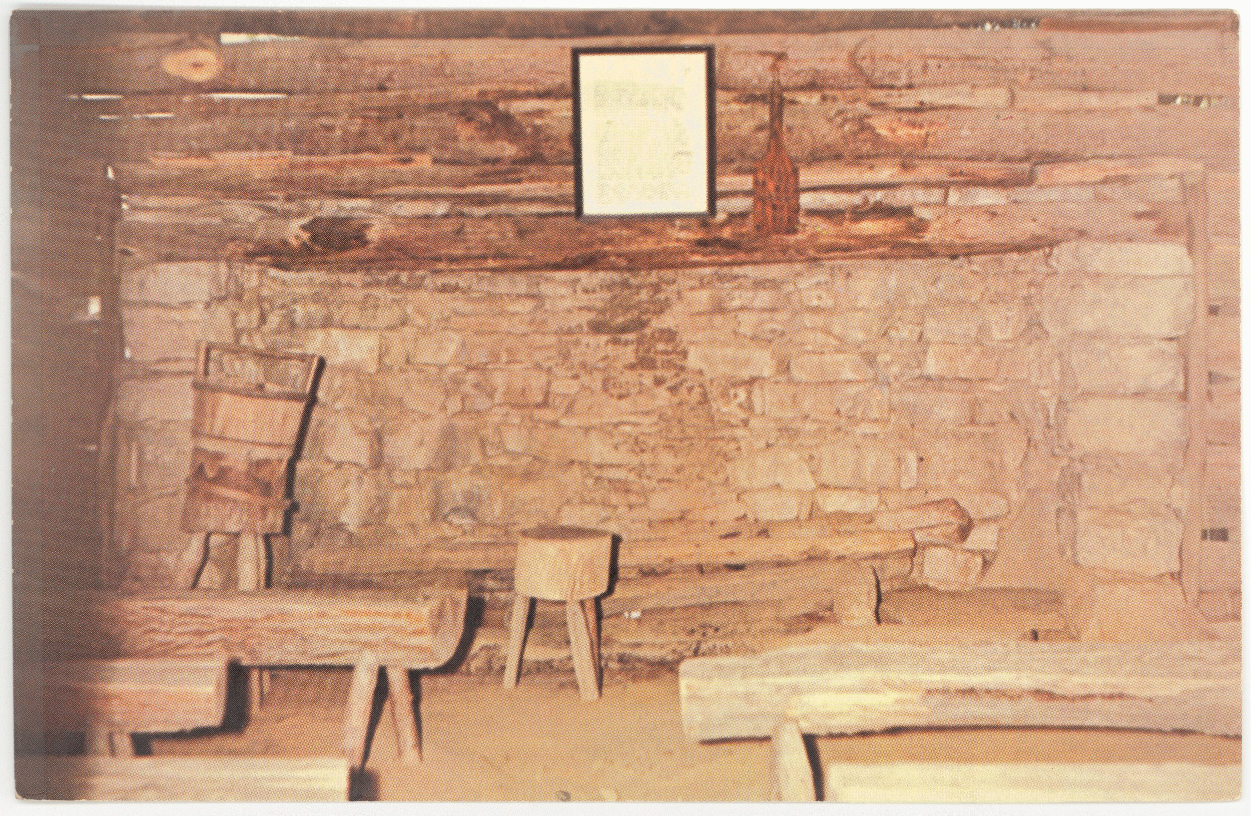 Interior of First School House in Kentucky