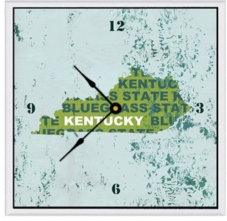Green Leaf Art Kentucky Clock