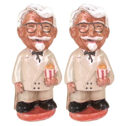 Louisville Stoneware Colonel Sanders Salt & Pepper Shakers