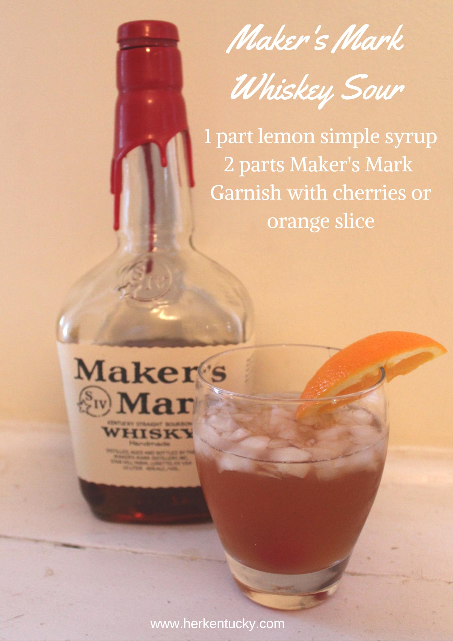 Maker's Mark Whiskey Sour