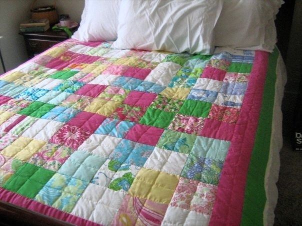 Lilly Pulitzer Patchwork Quilt | HerKentucky.com
