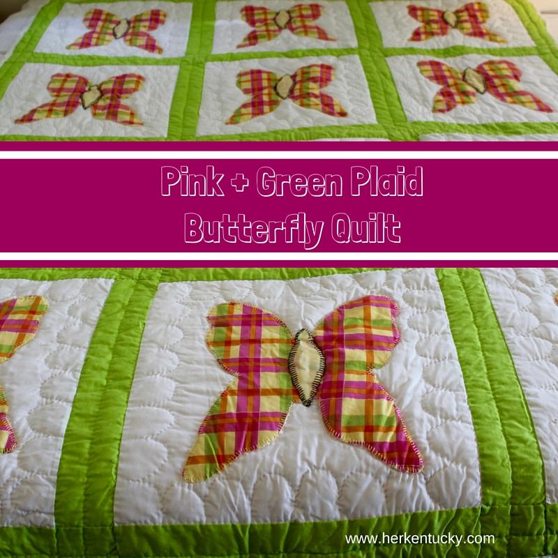 Pink + Green Plaid Butterfly Quilt-3.jpg