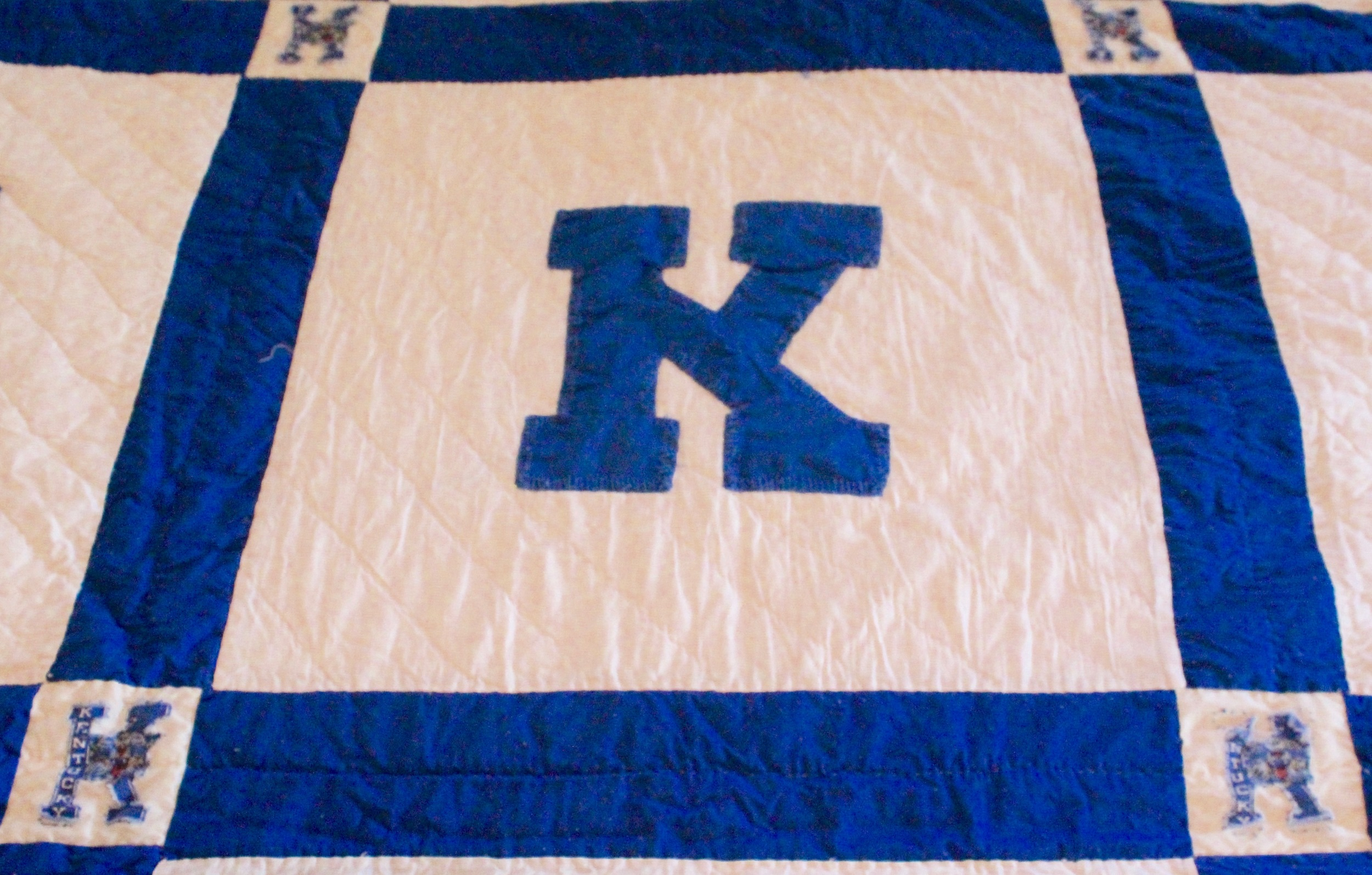 Blue and White Kentucky Wildcats Quilt