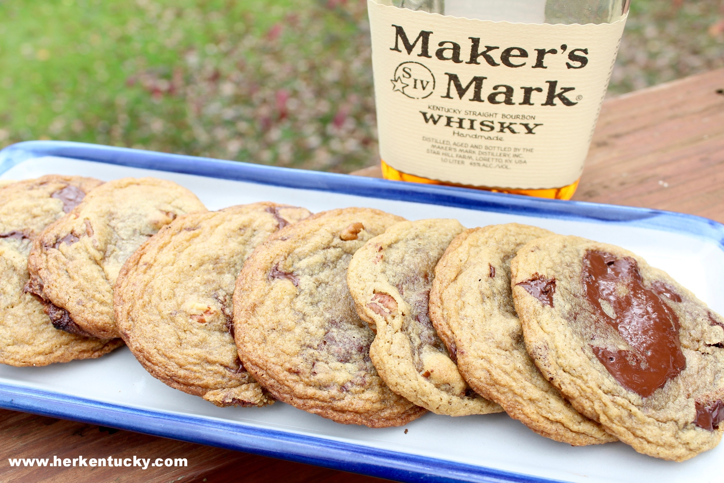 Maker's Mark Bourbon Chocolate Chunk Cookies