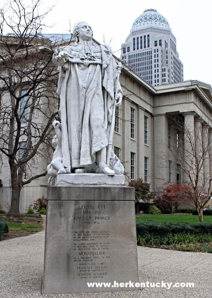 Louis XVI statue Louisville KY