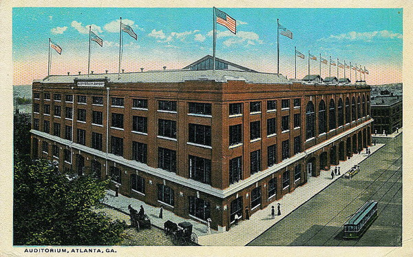 The Atlanta City Auditorium, site of the 1930 Southern Conference Championship.