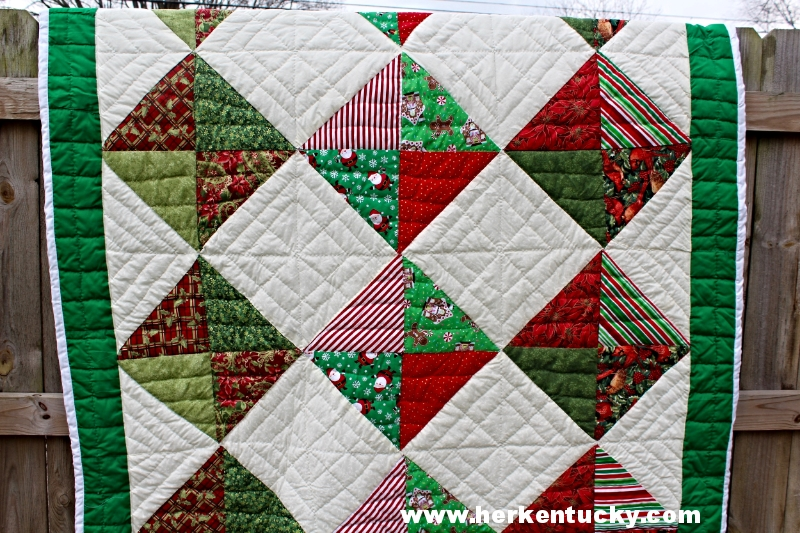 Red + Green Christmas Patchwork Quilt