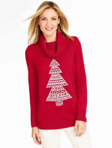 Sweater via Talbots .