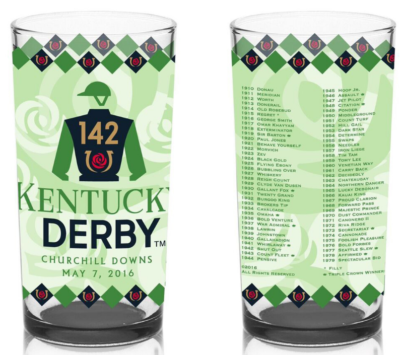 Kentucky Derby Glass