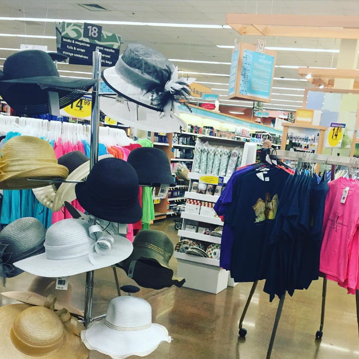 Kentucky Derby Hats for sale at my neighborhood grocery store.