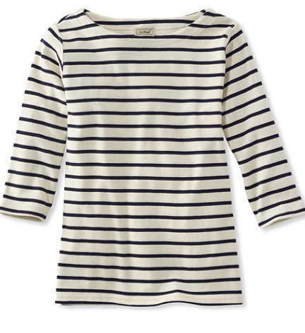 L.L. Bean French Sailor's Shirt; all colors under $35; sale colors under $20!