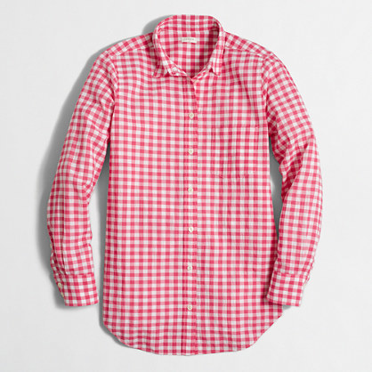 J Crew Factory Gingham Top