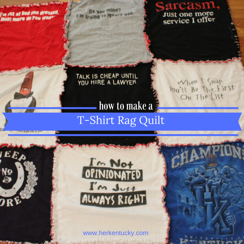 How to Make a T-Shirt Rag Quilt | HerKentucky.com