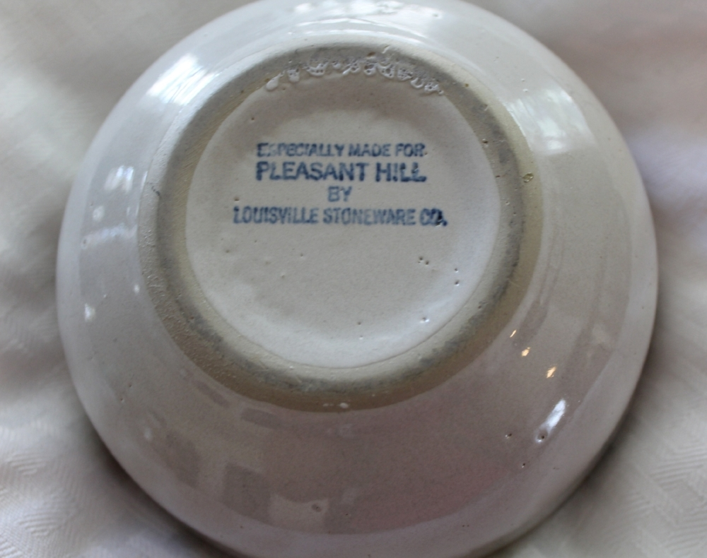 Louisville Stoneware for Pleasant Hill pottery