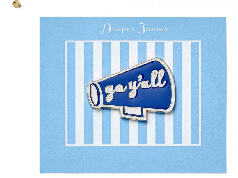 Draper James Megaphone Pin
